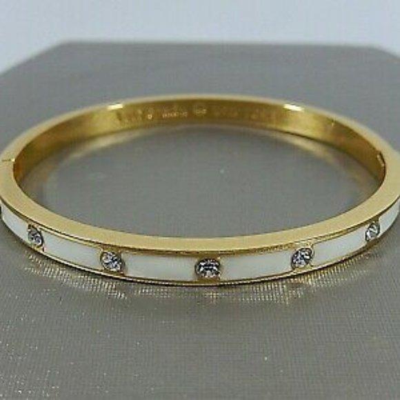 Kate Spade White and Gold Rhinestone Bracelet